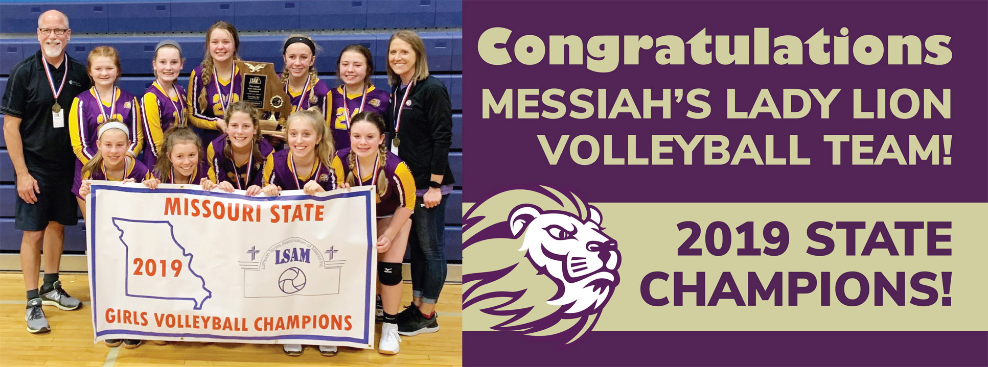Messiah Lutheran School St. Charles MO Volleyball Champs